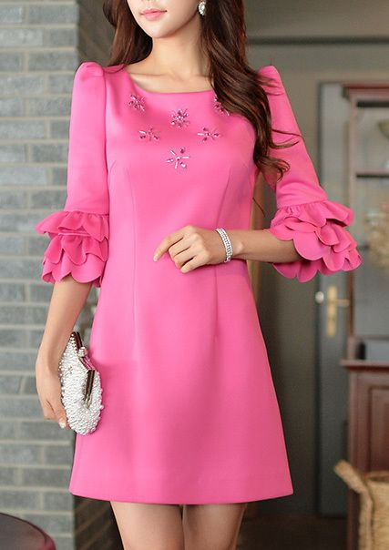 Morpheus Boutique  - Mei Pink Petals Sleeve Designer Dress, CA$158.64 (http://www.morpheusboutique.com/new-arrivals/mei-pink-petals-sleeve-designer-dress/)