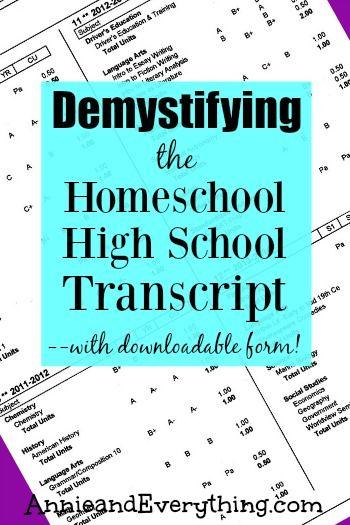 demystifying the homeschool high school transcript with fillable pdf