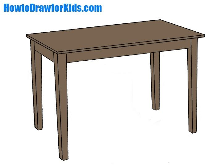 How To Draw A Table For Kids In 2020 Drawing Lessons For Kids Table Simple Subject