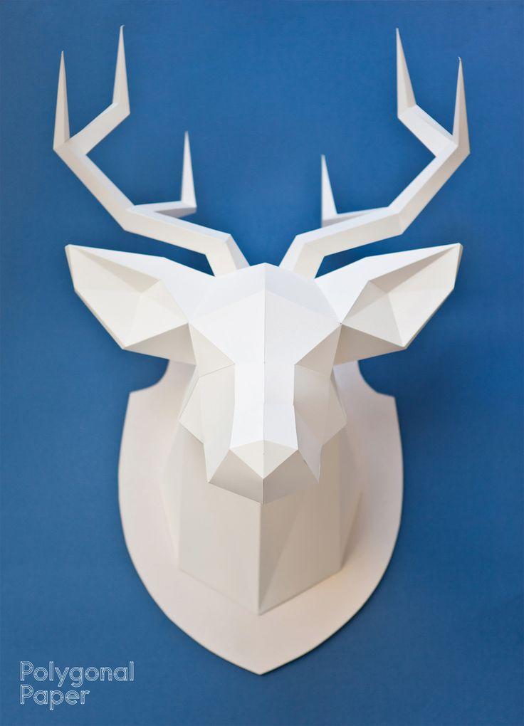 38 best polygonal paper images on pinterest paper crafts. Black Bedroom Furniture Sets. Home Design Ideas
