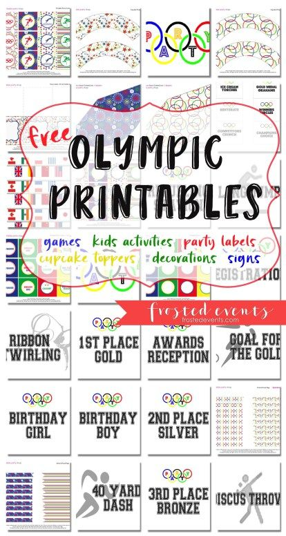 Olympic Games for Kids and Olympic Themed Party Ideas + Free Printables for kids activities, classroom crafts and teacher projects  via @frostedevents