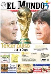 World Cup final 2014 -  El Mundo-Colombia 13 Julio 2014