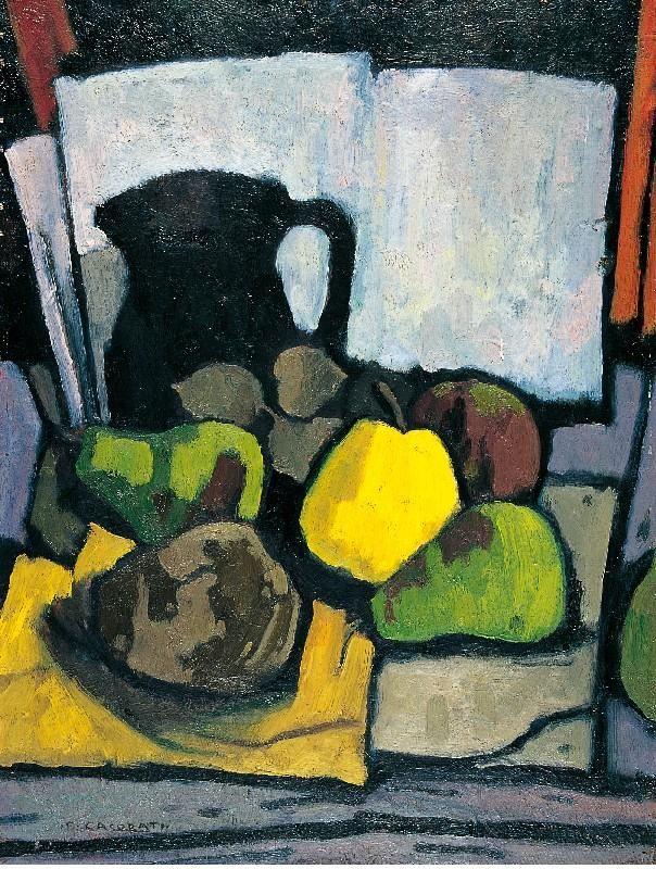 "huariqueje: "" Pitcher and Pears - Felice Casorati , 1946 Italian, 1883-1963 Oil on cardboard """