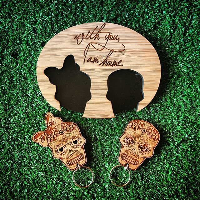These were launched last week and we haven't gotten to posting them yet.  So for all the #scull lovers. Here is our latest addition to the key chain family  Availible online** #sugarscull #Mexican #dayofthedead #kamers2016 #bamboo #couples #gift #weddinggift #unique #statement #organized #keys #keychains #grass #wood #engraved #detail #etched #practical #novelty #keyholder #fun #instagood #shoponline #photooftheday #webstagram #hallojane #capetown