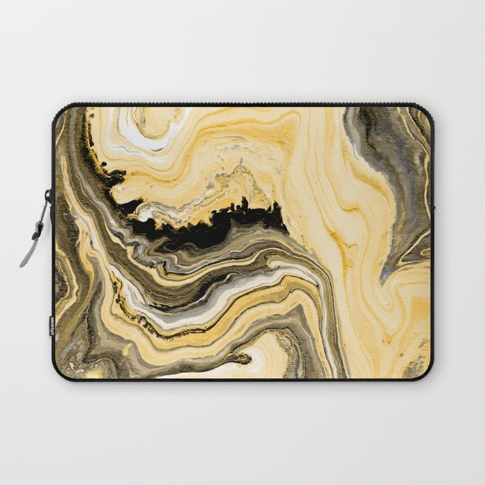 Painted Gold laptop sleeve by Fimbis     Fluid art, painting, golden, marble, paint, macbook, lenovo, design, fashionista,        Protect your laptop with a unique Society6 Laptop Sleeve. Our form fitting, lightweight sleeves are created with high quality polyester - optimal for vibrant color absorption. The design is printed on both sides to fully showcase the artwork while keeping your gear protected.