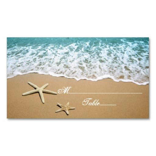 17 best images about starfish beach on pinterest for Make your own wedding place cards