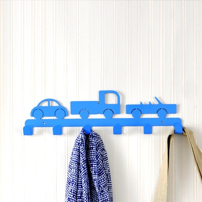 Car Wall Hangers: Made of metal.