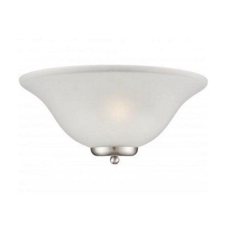 7 in. Traditional Wall Sconce in Brushed Nickel Finish, Silver