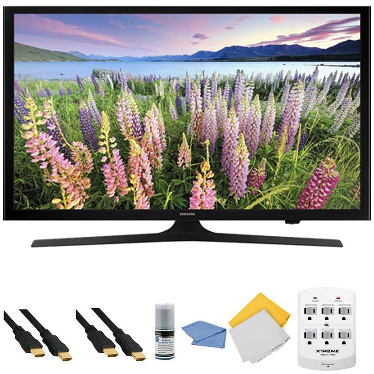 Samsung UN40J5200 - 40 inch Full HD 1080p LED HDTV   Hookup Kit - Includes TV, HDMI to HDMI Cable 6', 6 Outlet Wall Tap Surge Protector with Dual 2.1A USB Ports, Cleaning Cloth and Cleaning Kit Deal