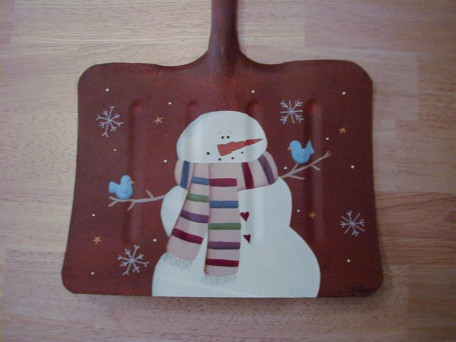 snowman on shovel