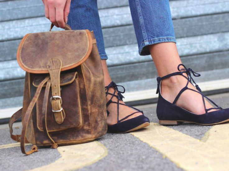 #1 Blogger's Choice! Our boho style leather backpack is this season's fashionable, chic, savvy and trendy bag to have. #giftideas #giftsforwomen #leatherbag #rucksack #backpack #vintage
