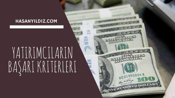 Yatırımcıların Başarı Kriterleri ⋆