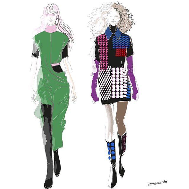 Fyodor Golan Fall 2017 #fyodorgolan #fashionillustration #londonfashionweek #runway #runwaylooks #fashionweek #fashionart #fashionsketch #fashiontrends