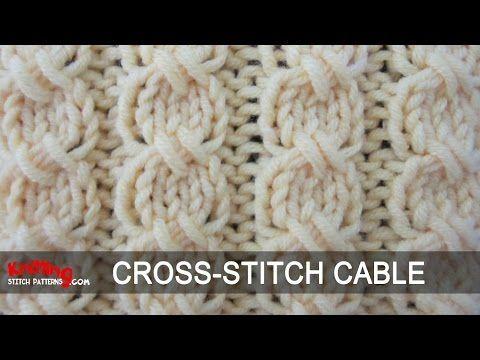 Cross-Stitch Cable   Knitting Stitch Patterns