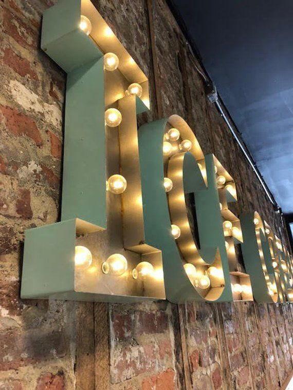 Marquee Letters Light Up Letter Light Marquee Letter Etsy Lighted Marquee Letters Light Letters Marquee Letters