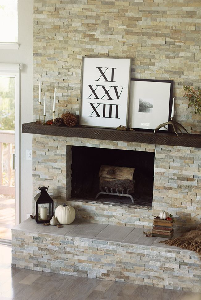 Perfect The Evolution Of Our Living Room Fireplace {+ More Fall Decorating}