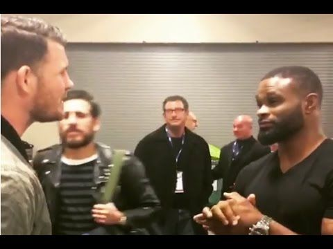 UFC Backstage - Michael Bisping ACCEPTS Tyron Woodley Fight