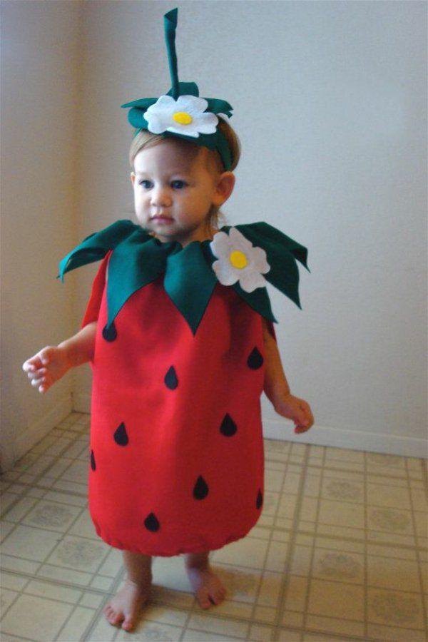 schöne ideen für faschingskostüme kinder erdbeere