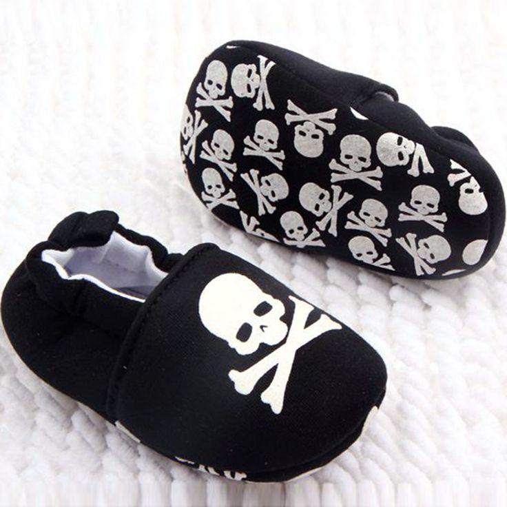 Cute Cotton Baby Pirate Skull Shoes //Price: $9.99 & FREE Shipping //     #skull #skullinspiration #skullobsession #skulls