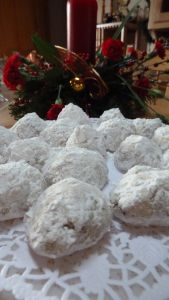Snowball cookies -- special party fare anytime.