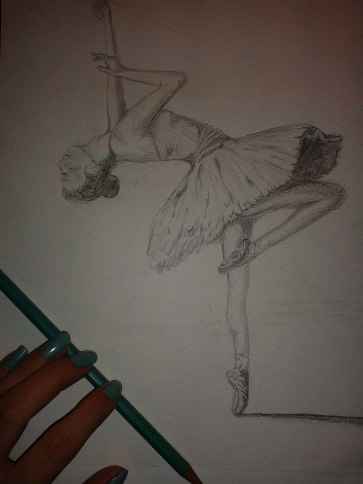 #ballerina #pencil #blackwhite #drawing