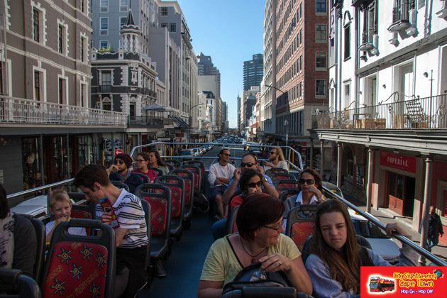 Sitting on top allows you great views of the city.  http://citysightseeing-blog.co.za/2014/08/28/a-tourist-in-my-home-town-cape-town/