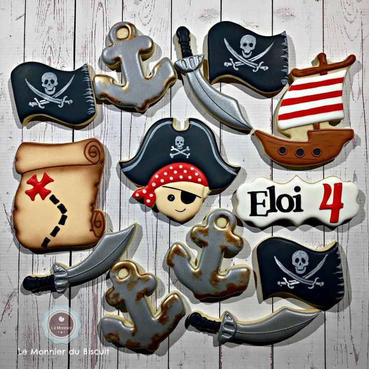 Pirate party! Cookies by Le Monnier du Biscuit