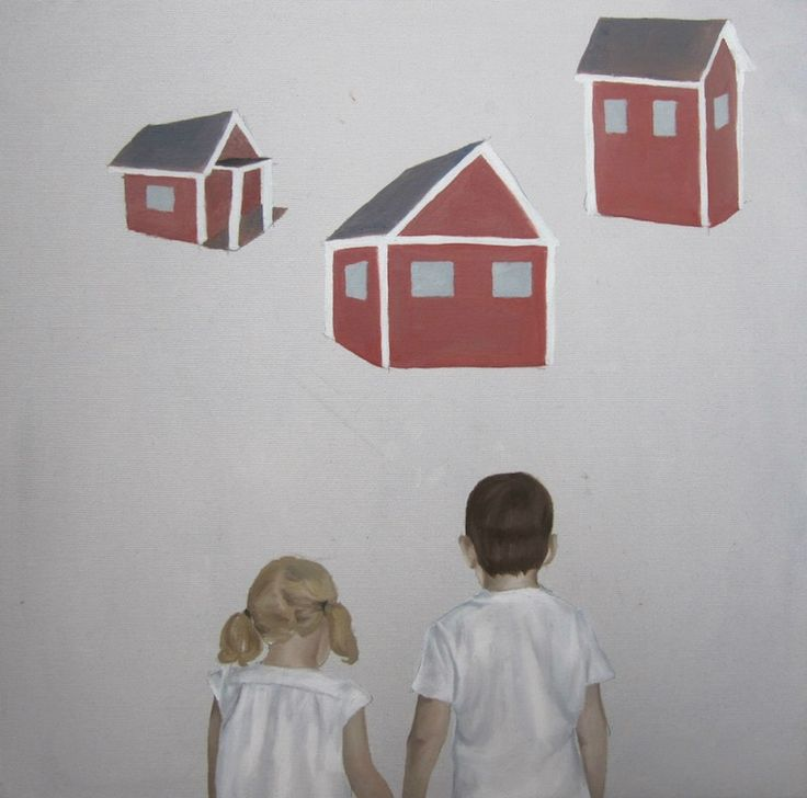 Don't be picky by Amanda Karlsson; I feel like these children are deciding whether to play house or not, whether to grow up or not.