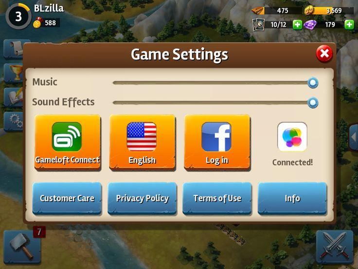 Siegefall   Settings   UI HUD User Interface Game Art GUI iOS Apps Games   Gameloft   www.girlvsgui.com