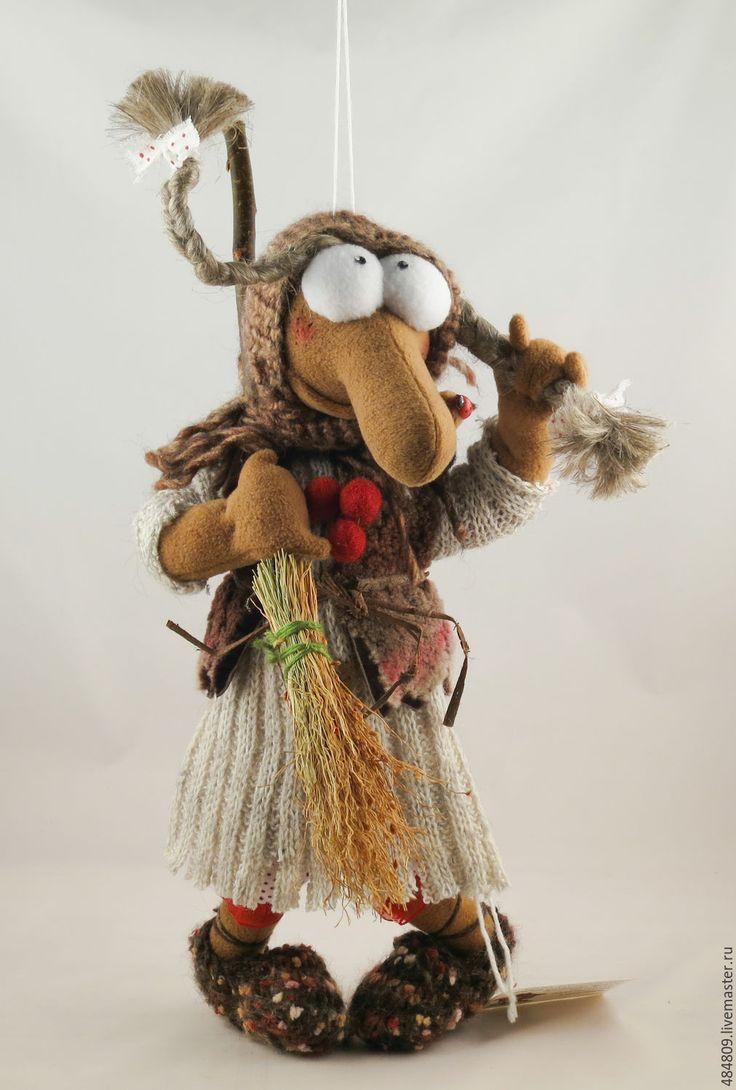 """Купить Баба-Яга """"Осень в деревне"""" - коричневый, баба-яга, баба яга"""