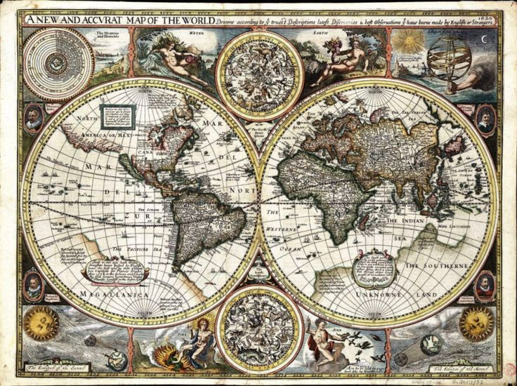 New and accurate map of the world--1627, possibly by the English cartographer and historian John Speed.