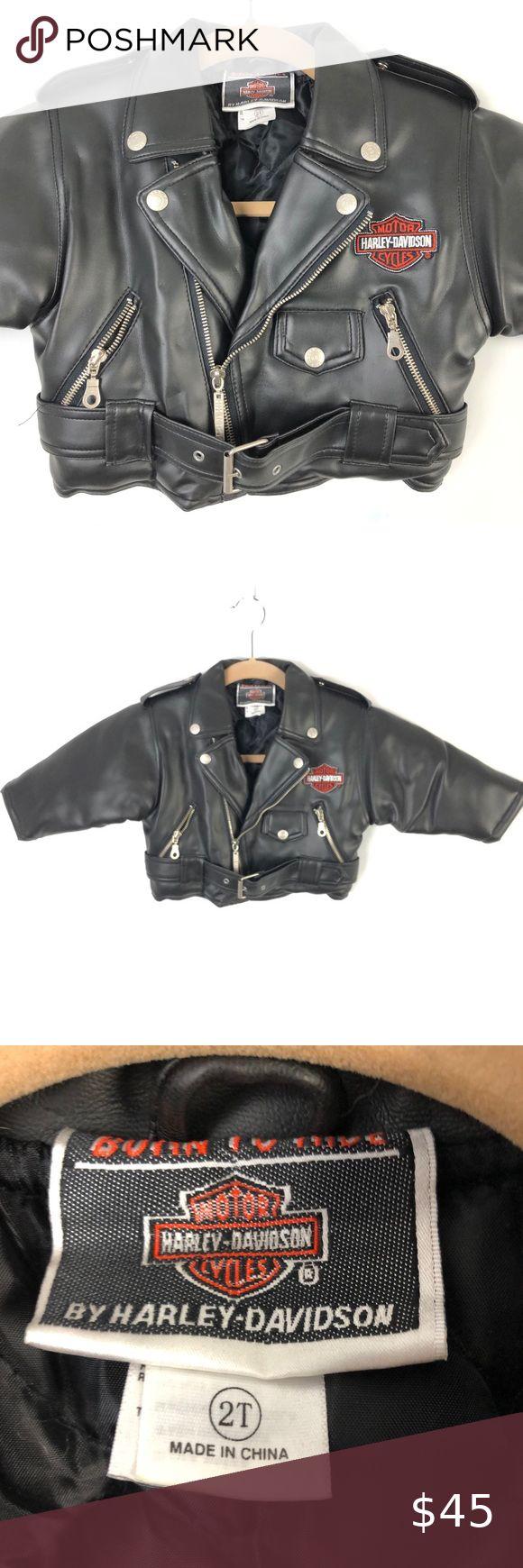 "Harley Davidson Vegan Leather Jacket ""Born To Ride in 2020 ..."