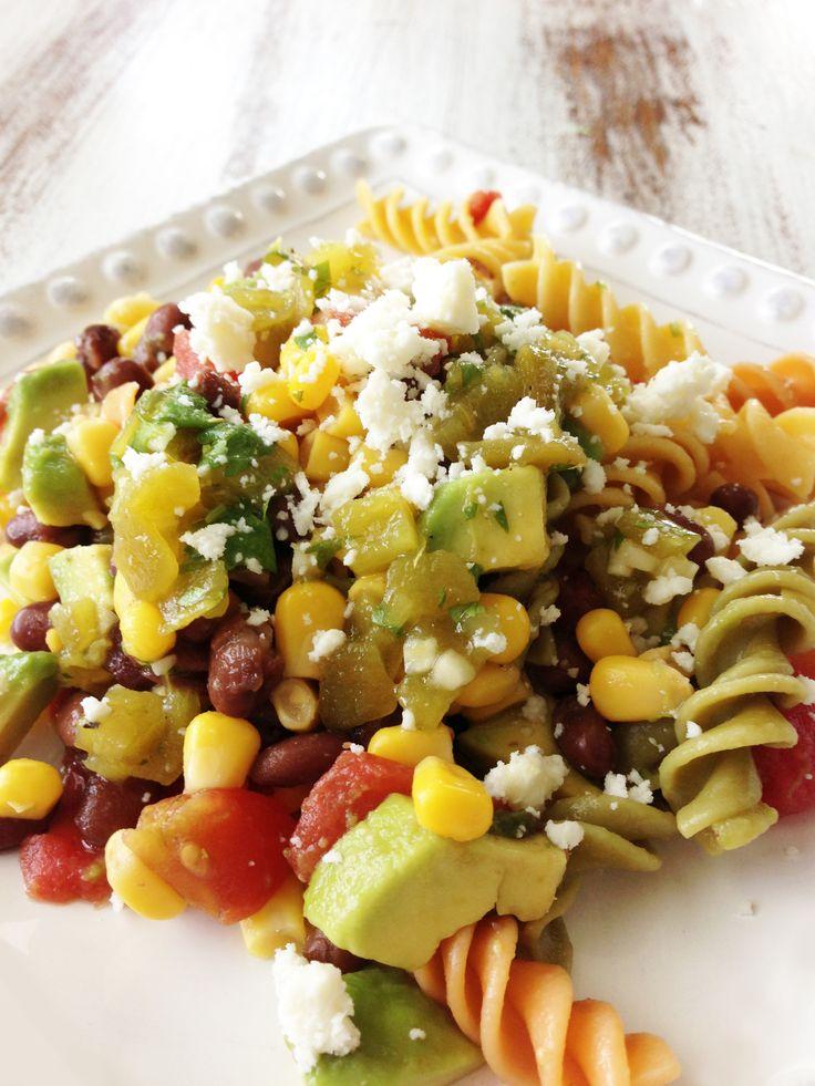 pasta salad green chile lime vinaigrette salad pasta pasta salad ...