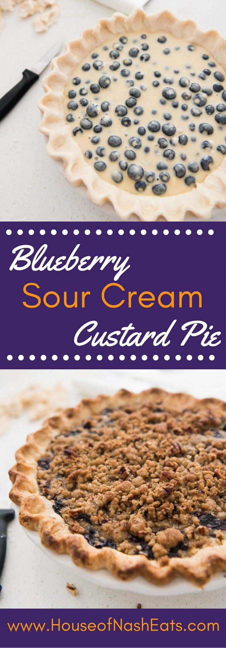 Juicy fresh blueberries, creamy sour cream custard, buttery streusel crumble…