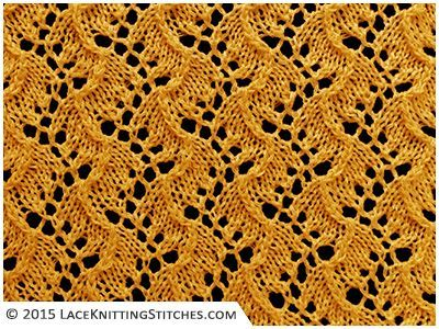 #Lace knitting No.24 | Traveling Vines - Very subtle and graceful lace stitch.