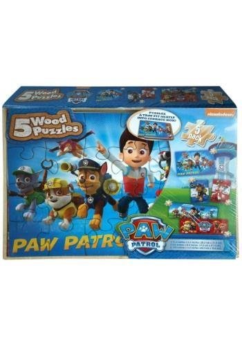 Paw Patrol 5pk Wood Jigsaw Puzzle Set pk aedaae02ff