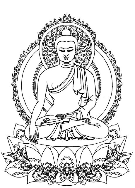 Buddha outline that I love. Would make a lovely tattoo design!