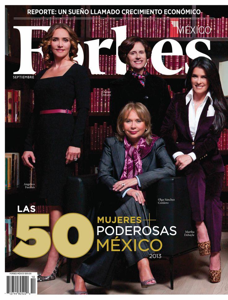 Las 50 mujeres más poderosas de México. http://forbes.com.mx/