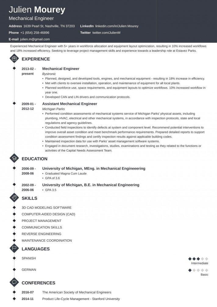 Mechanical Engineer Resume Word Format Download Engineering In 2021 Cv Template Word Cv Template Mechanical Engineer Resume