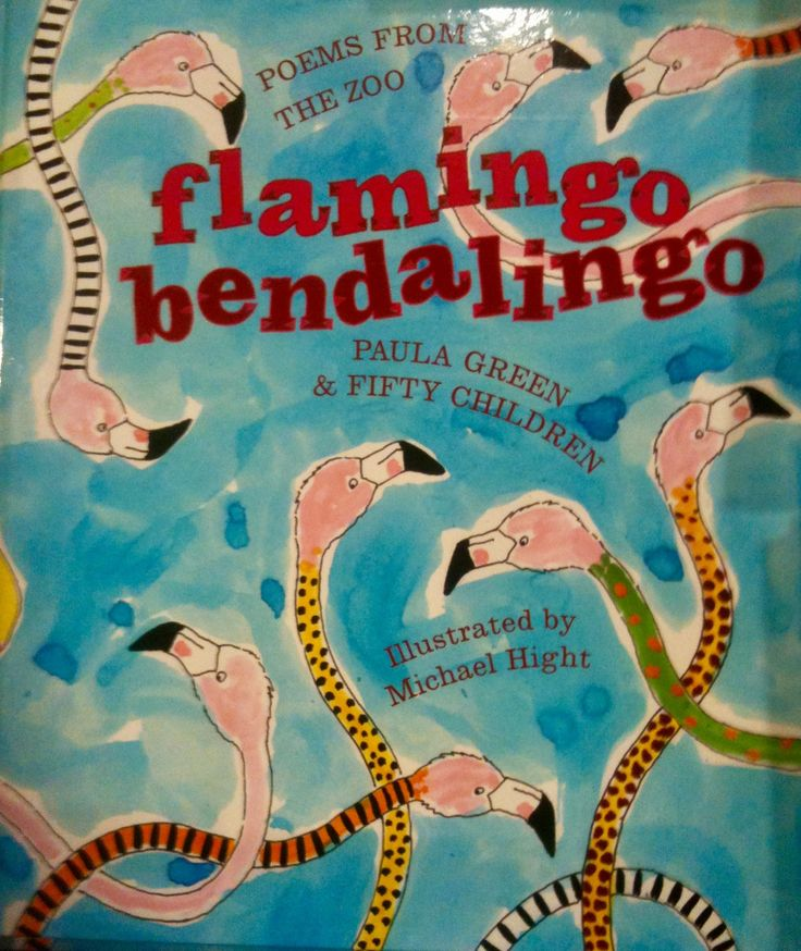 Flamingo Bendalingo poems by Paula Green and Fifty children. Illustrated by Michael Hight. Read aloud, humourous animal poetry just right for children :)