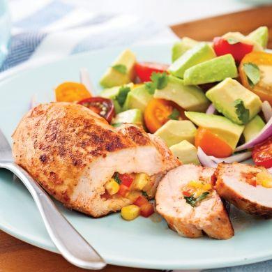 Poitrines de poulet à la mexicaine - Soupers de semaine - Recettes 5-15 - Recettes express 5/15 - Pratico Pratique