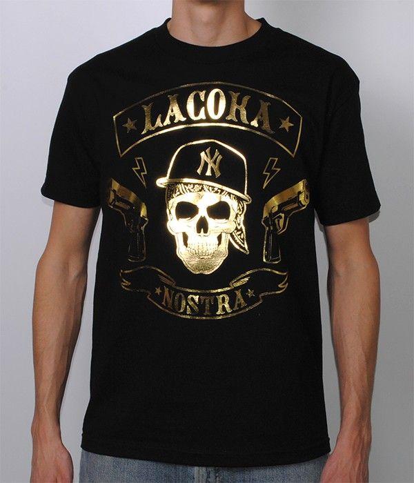 La Coka Nostra MC Gold Foil Shirt