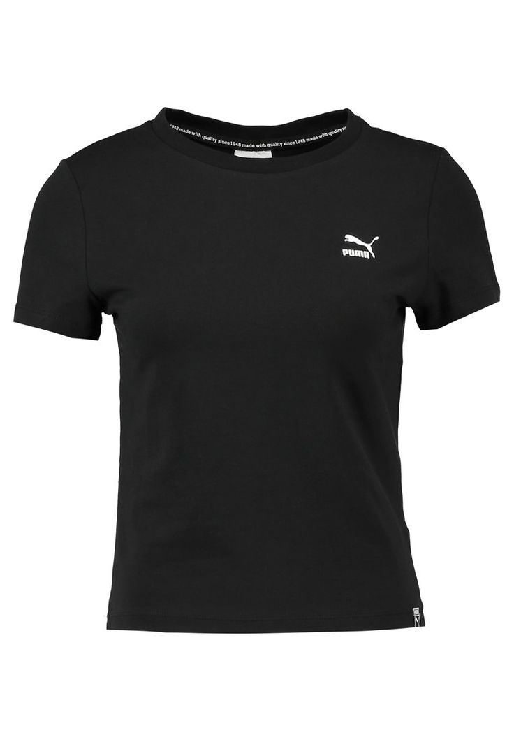 Puma CLASSIC LOGO TIGHT TEE - Basic T-shirt - black for £19.99 (12/02/18) with free delivery at Zalando