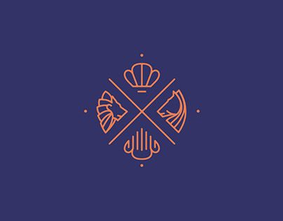Logo & Branding redesign for het Loo Palace, the former royal residence in Apeldoorn, The Netherlands. The concept was based on several elements of the original heraldry, such as the royal crown, the lion and horse symbols, etc. Additionally a custom desi…