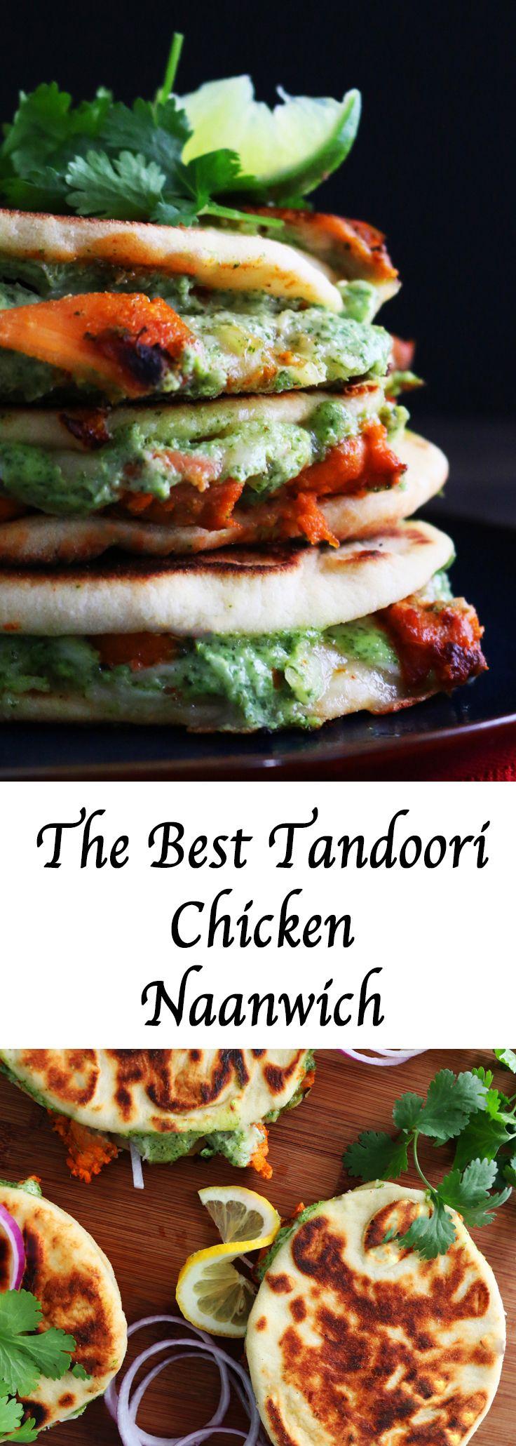 spicy chicken sandwich | Indian chicken sandwich | naan sandwich | tandoori chicken pizza | baked tandoori chicken | oven tandoori chicken | tandoori chicken sandwich |