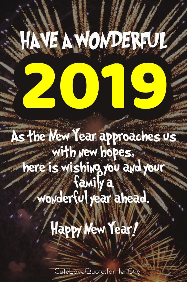 New Year 2019 Greeting Card Love Wishes Amen New Year Wishes