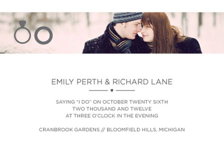 Put your engagement photos to good use by working them into your stationery.     Invitation by  Look Love Send .