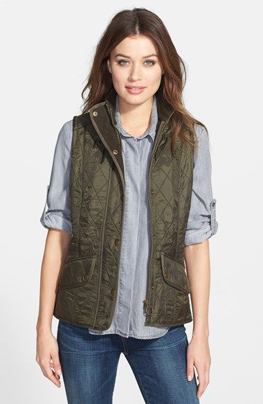 classic // wardrobe staples // green // quilted vest // barbour // timeless