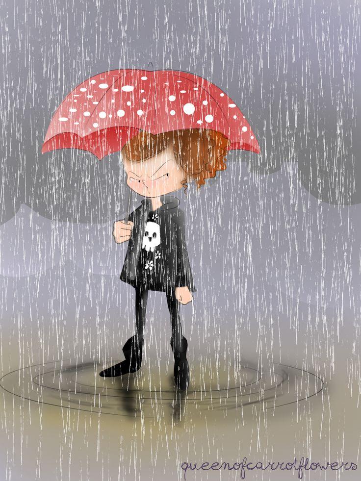 May '13. Rain, just RAIN!  #rain #pioggia #ombrello #pois #polkadots #umbrella #umpf #photoshop #illustration #illustrazione #adobephotoshop