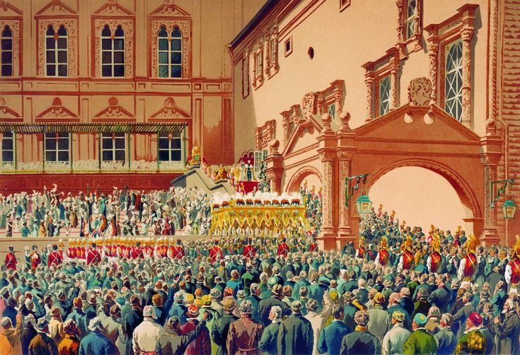 """""""Reception of the Tsar of Russia in the Moscow Kremlin"""". (by Ivan Makarov)."""